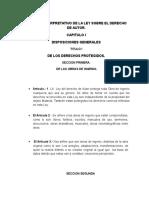 Analisis Interpretativo de Ley Sobre El Derecho de Autor