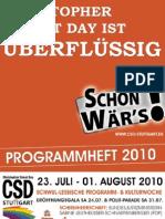 CSD Stuttgart 2010 - Offizielles Programmheft