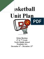Unit Plan - Secondary Basketball