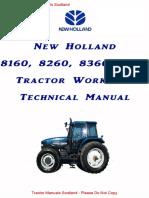 New Holland,Ford,Fiat 160 - 8160,8260,8360,8560 Workshop Manual