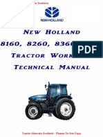 New Holland,Ford,Fiat 160 - 8160,8260,8360,8560 Workshop Manual