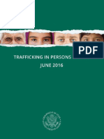 Informe 2016 Trafficking in Persons Report EEUU