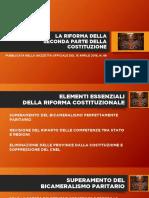 Le slide di sintesi sulla riforma costituzionale