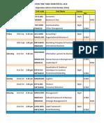 Business - Final ExamTimetable for Semester 2,2016 (1)