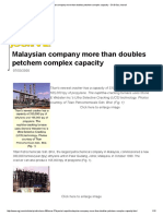 Malaysian Company More Than Doubles Petchem Complex Capacity - Oil & Gas Journal