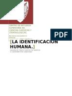La Identificacion Humana