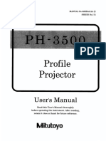 Mitutoyo Profile Projector PH 3515F Manual
