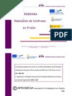 Programa de Mediación y Resolución de Conflictos en Prisión