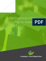 How Expensive is Free College for States