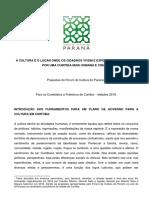 CAMPANHA 2016 - Propostas Fórum de Cultura Do Paraná