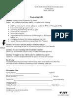 PTA Membership Form 2016-2017