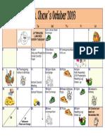 october 2016 calendar