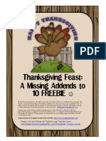 Thanksgiving Feast a Missing Add Ends Freebie