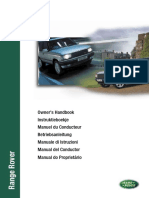 Range Rover P38 MY99 - Owner's Handbook Export (VDH100680X 2nd Edition)