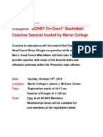 BCANY on-Court at Marist College