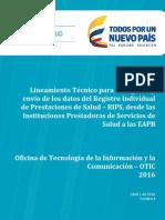 Lineamientos Tecnicos Para La Estructura de Los Rips 2016