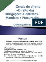 NOÇOES DIREITO CIVIL, OBRIGAÇÕES, CONTRATOS, MANDATO E PROCURAÇÃO.ppt
