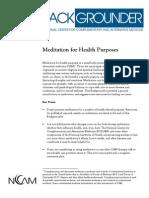 meditation for health purposes