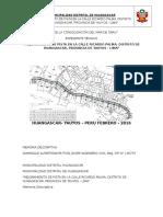 Mejoramiento de Pista en La Calle Ricardo Palma, Distrito de Huangascar, Provincia de Yauyos - Lima