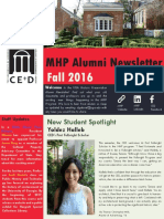 MHP Alumni Newsletter