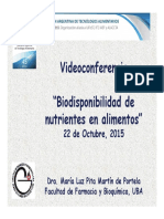Biodisponibilidad de Nutrientes en Alimentos