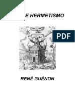 Guénon- Sobre Hermetismo