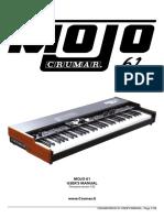 Crumar Mojo61 Manual ENG
