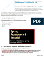 Spring 4 and Hibernate 4 Integration Tutorial Part 1