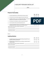 Branch Security Checklist