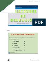 Ecuaciones de Dimensiones