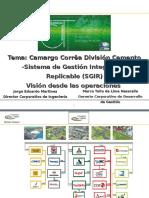c CAMARGO CORREA Division Cemento Sistemas de Gestion Integrado y Replicable