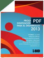 Programa de Innovación Para El Desarrollo 2013