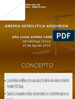 Anemia Hemolitica Adquirida 2016