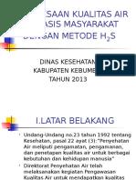 PEMERIKSAAN KUALITAS AIR   METODE H2S.ppt