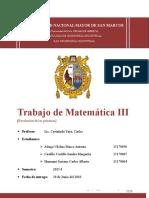 Trabajo de Matemática III