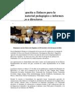 Digeduca Capacita a Enlaces Para La Entrega de Material Pedagógico e Informes de Resultados a Directores