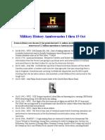Military History Anniversaries 1001 Thru 101516
