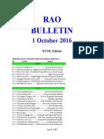 Bulletin 161001 (HTML Edition)