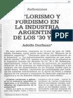 Taylorismo y Fordismo Argentina