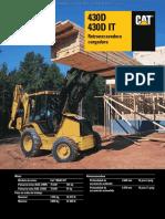Catalogo Retroexcavadoras 430d 430dit Caterpillar Caracteristicas Equipamiento Dimensiones Especificaciones