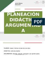 Planeación didáctica argumentada