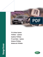 Range Rover P38 MY99 - TV & Video System (LRL0344ENG)