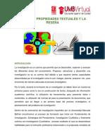 Modulo i. Propiedades Textuales y La Resea