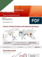 Huawei Enterprise Business Presentation for NATE2012 Final