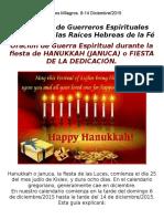Oracion Fiesta de Hanukka