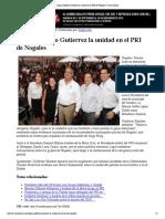 30-09-16 Logra Gilberto Gutierrez La Unidad en El PRI de Nogales _ Canal Sonora