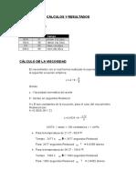 Cálculos y Resultados Lubricantes
