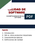Calidad de software - conceptos