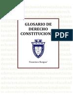Glosario de Derecho Constitucional - Francisco Burgoa 2013