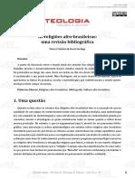 As Religiões Afro-brasileiras; Uma Revisão Bibliográfica